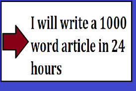 In 24 hrs 1000 words Unique Article Writing / Content Writing