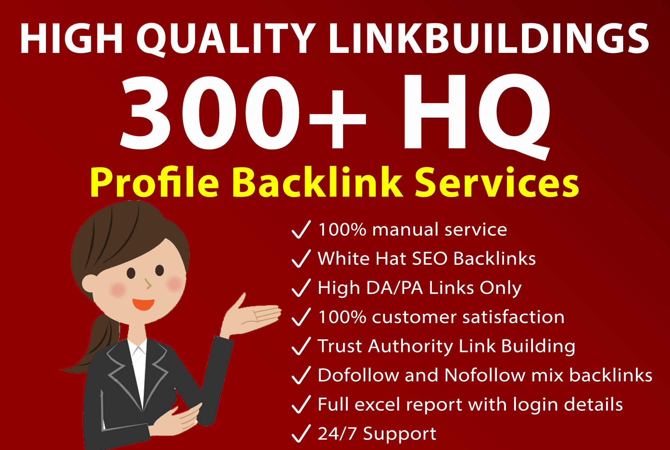 I Will Do Manually High DA 300+ Profile Backlinks