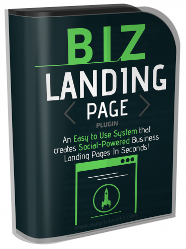 BIZ Landing Page - Easy to Use System that Creates Socially Powerful