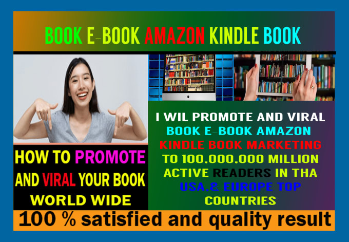 I will promote your Kindle,  E-book,  Amazon book on our quality website,  to bring readers traffic