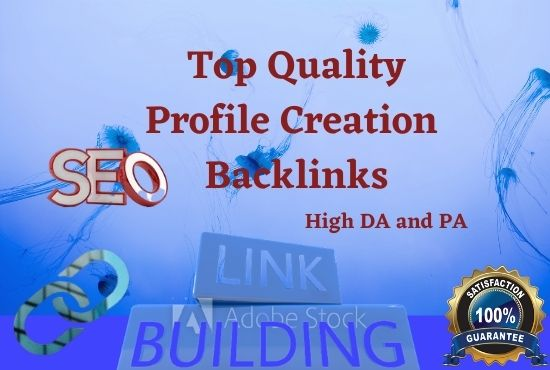 I will do 25 High Authority Social Profile Creation backlinks building