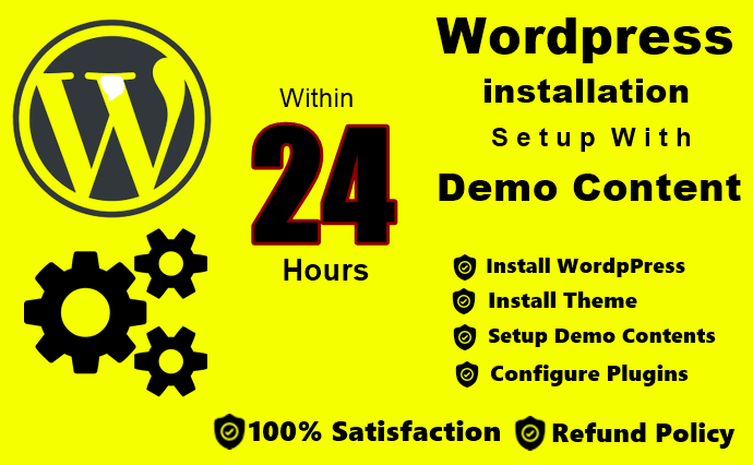 Install WordPress Theme With Demo Within 24 Hours