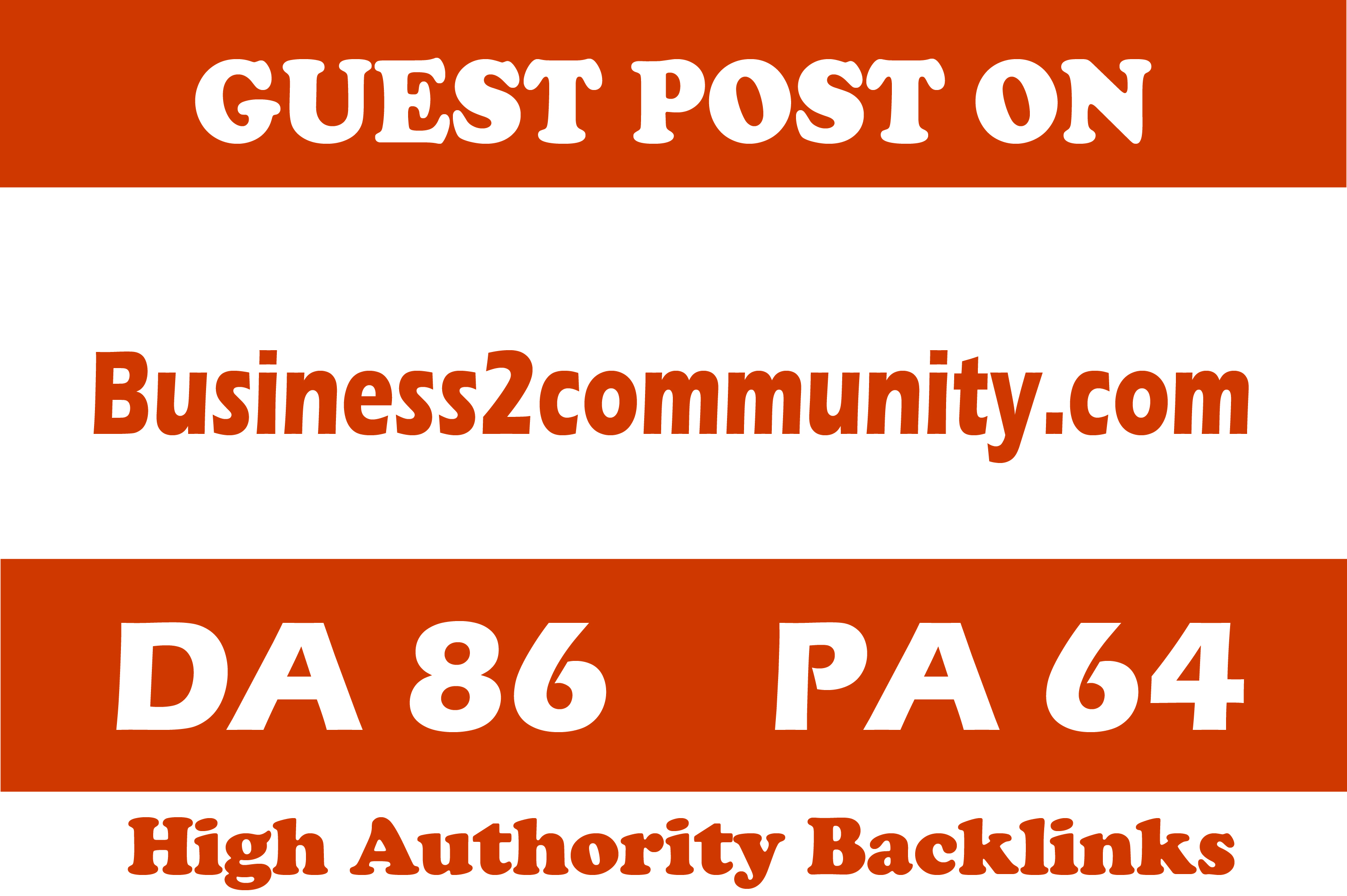 Publish guest post on business2community dot com on high quality website