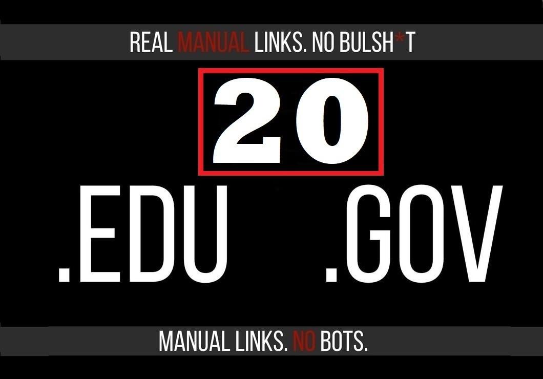 20 Edu/Gov US Base Safe SEO Backlinks make For Google Ranking your Website