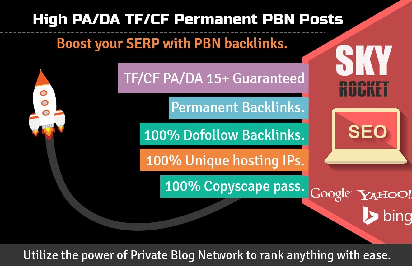 Make 1000 High PA/DA TF/CF Homepage PBN Backlinks To Skyrocket you SERP