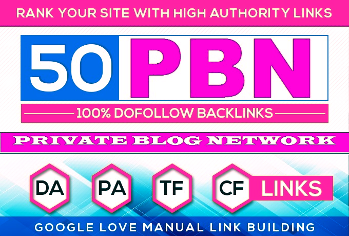 Construct 50 HomePage PBN Backlinks All Dofollow High Quality Backlinks