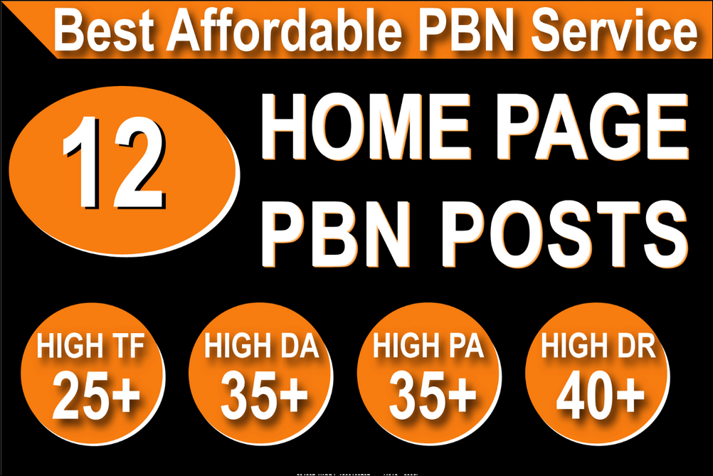 Landing page 12 PBN High 20 Plus DA PA CF TF Moz Authority Expired area Backlinks