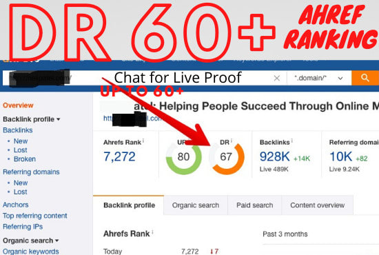 I wil create HIgh Quality Authority Backlink and Increase DR upto 40 and 60+