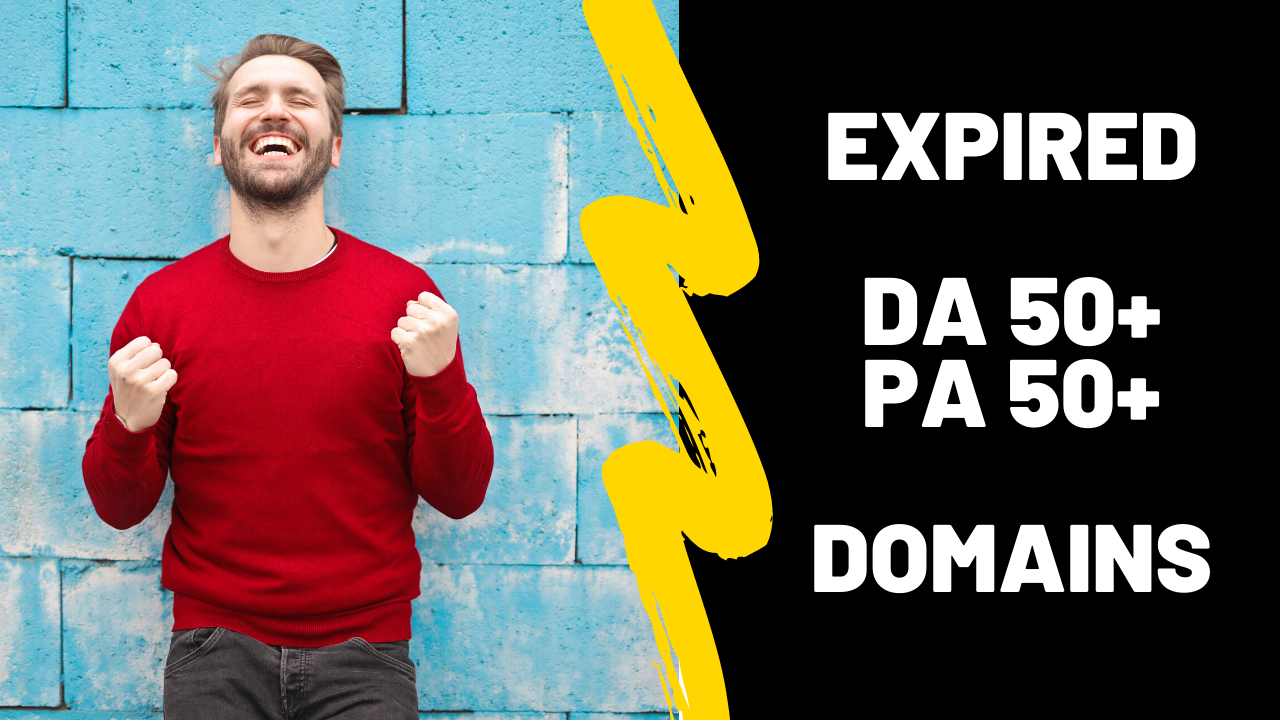 I will find Moz DA PA 25+ expired domains