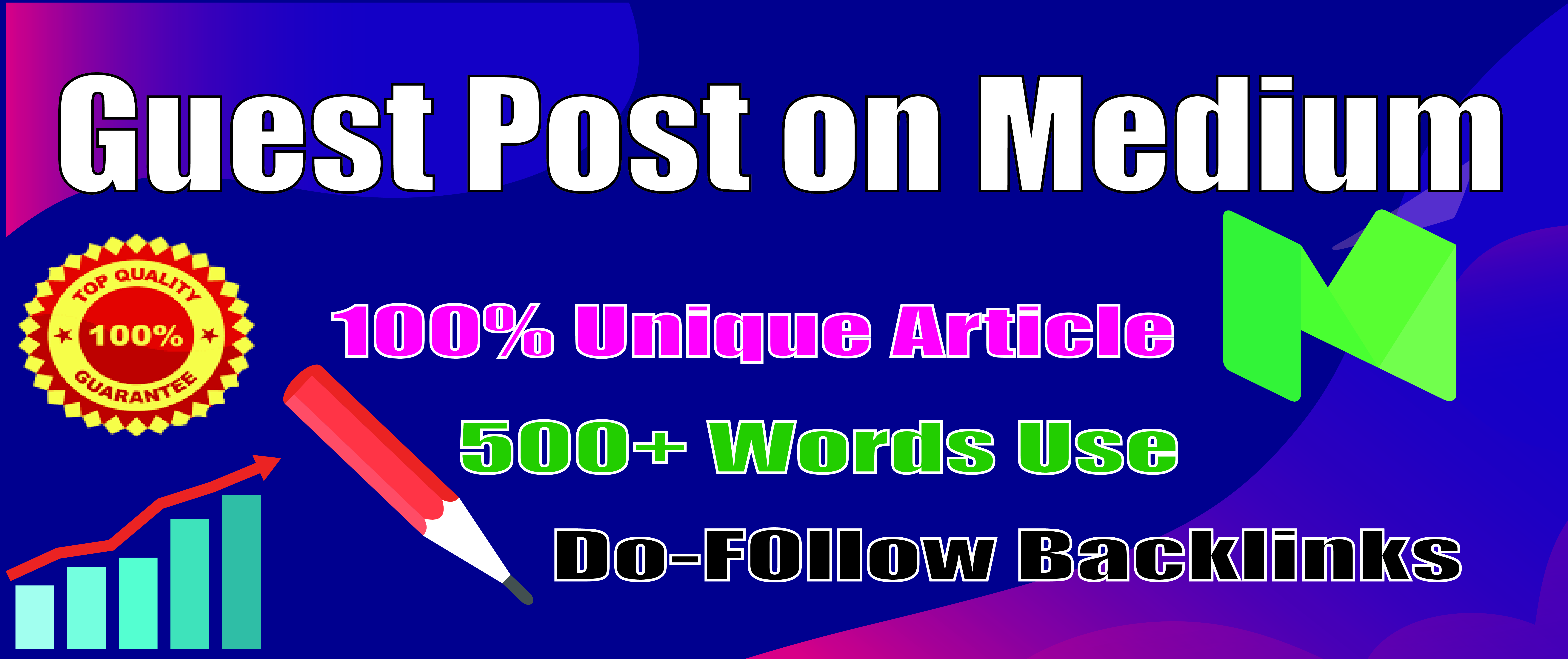 I will Provide you SEO helpful backlink with Guest Post on Medium