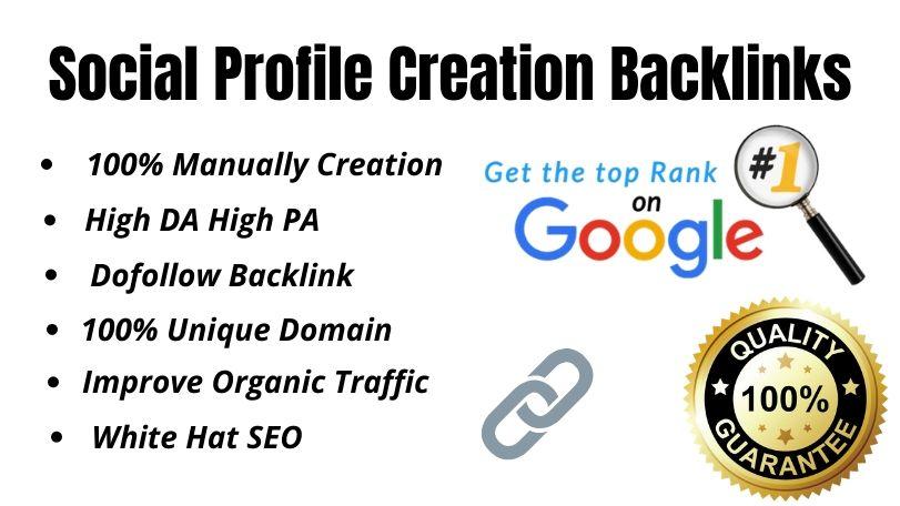 I will do 30 High DA and High PA profile creation backlink for your website
