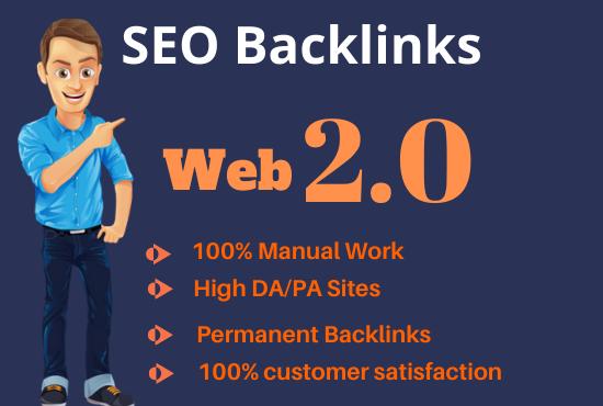 I will create 20 high authority web 2.0 seo backlinks