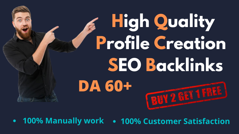 I will create 50 High Authority profile creation backlink for your website Ranking