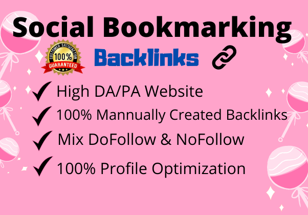 I will manually generate High quality 50 Social Bookmarking Backlinks