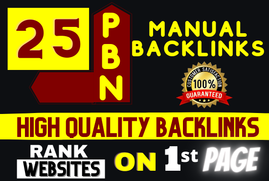 Build 25 High DA PBNs + Low Spam Score Backlinks