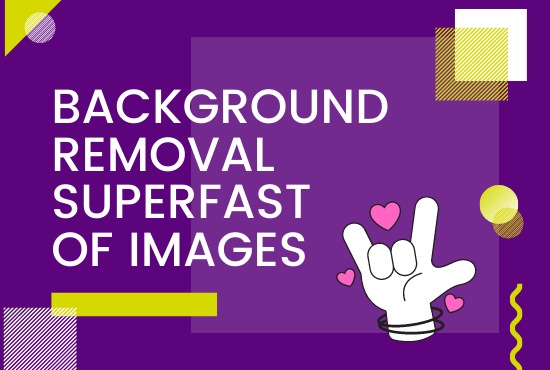 I will do Background removal superfast for 50 images