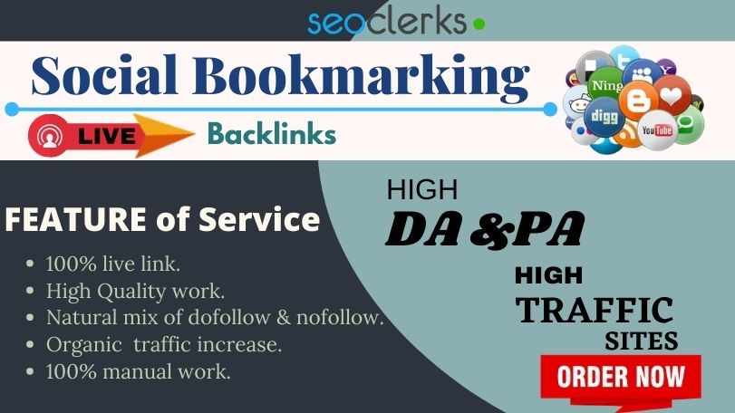 Manually Create 70 Helpful,  Live,  High quality SOCIAL BOOKMARKING back-links.