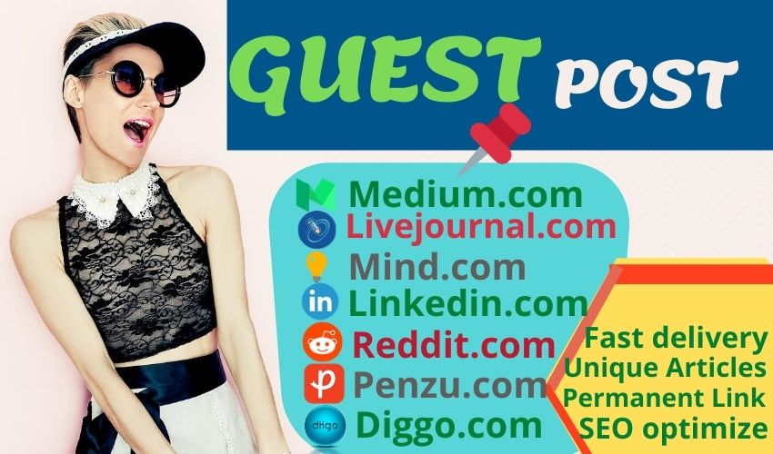 Build 7 High Quality Guest Post Backlinks on 85+ DA Unique Domain with 7 Unique Article.