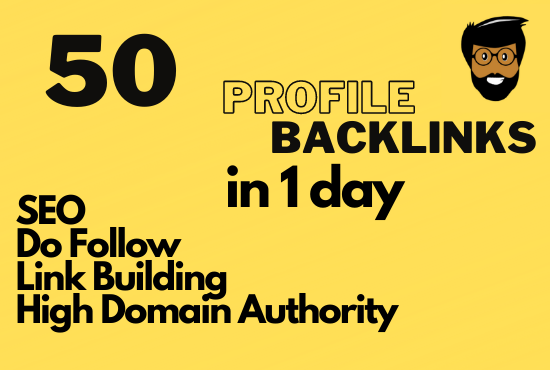 I will provide 50 dofollow profile backlinks with high quality SEO