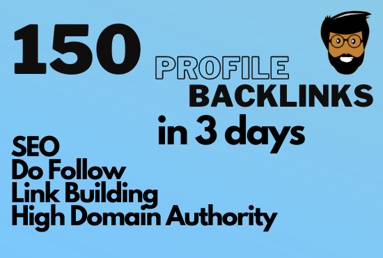 I will provide 150 dofollow profile backlinks with high quality SEO