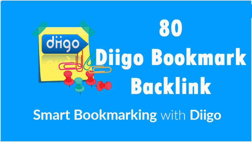 50 Diigo Bookmark backlink DA30+ Site Bookmark