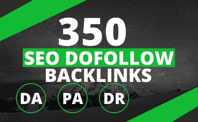 Build 350 seo dofollow backlinks,  link building service,  google ranking top.