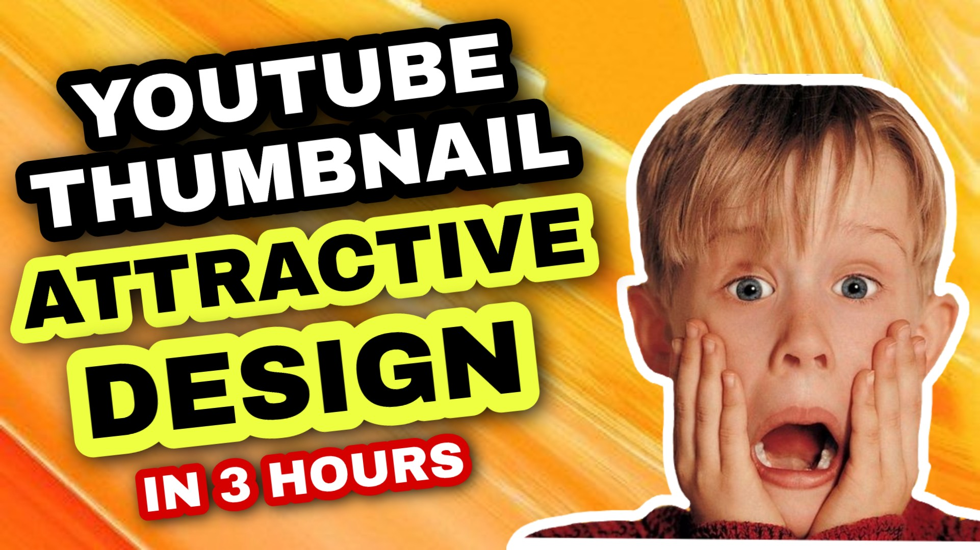 I Will design amazing youtube thumbnail in 3 hours