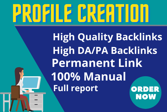 I will Create 30 High Quality Profile Creation SEO Backlink All Link From 60+DA
