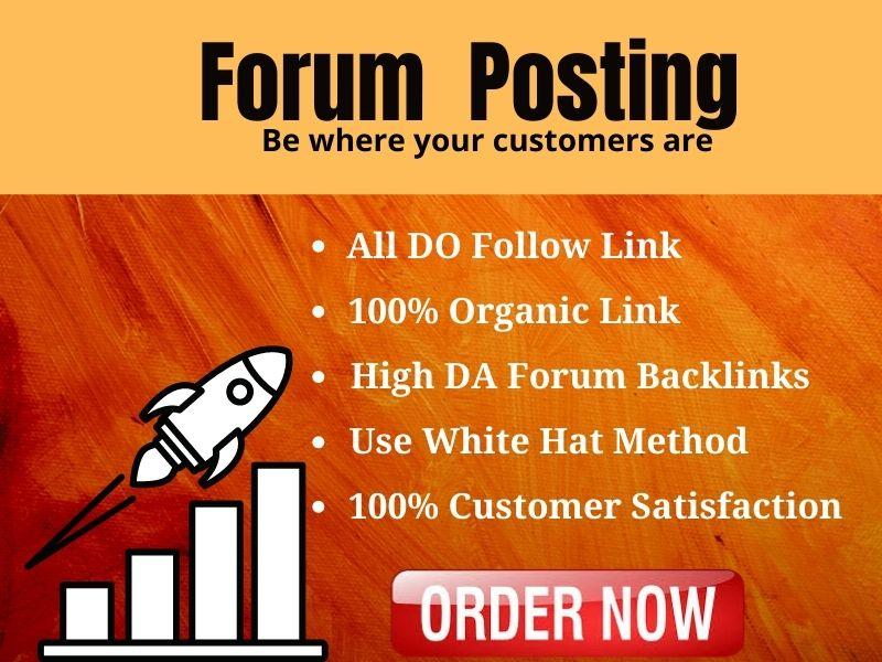 """I will Do 50 High Quality """"Forum Posting"""" SEO Backlink"""