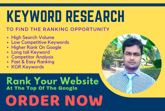 I will do keyword research that actually ranks