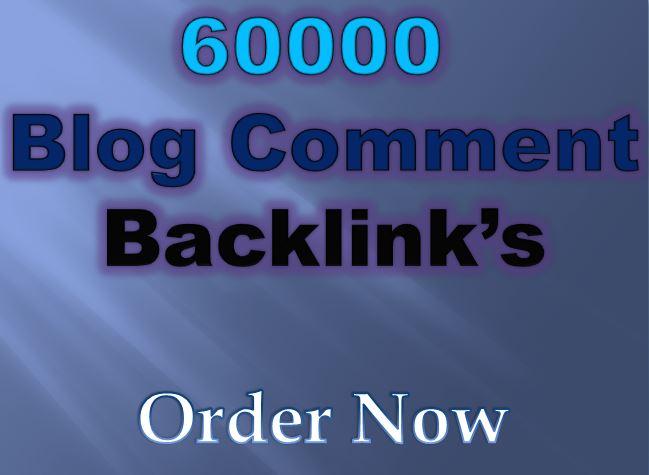 Providing 60K GSA Blog Comments Backlink for Google SEO