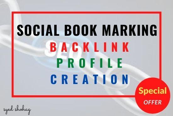 I will provide 50 social books marking for your website