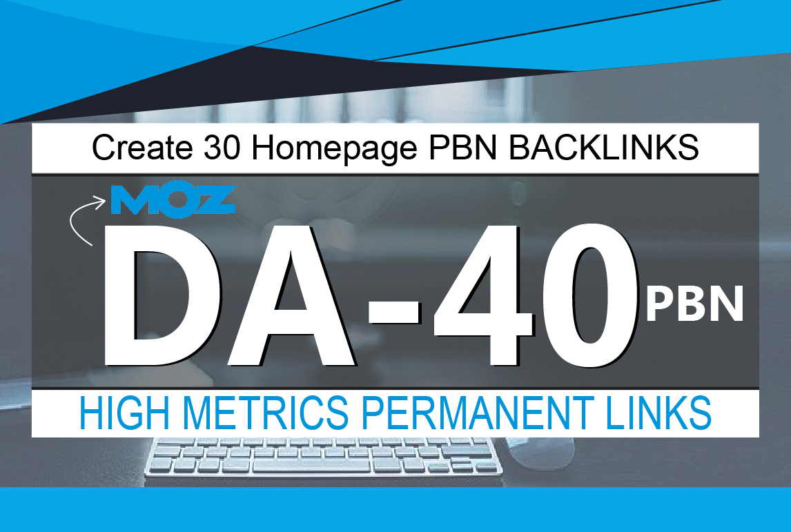 Create 30 Homepage PBN Backlinks High Quality DA 40 to 50 Plus