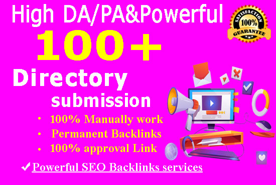 I will do 100 high-authority directory submission for your website