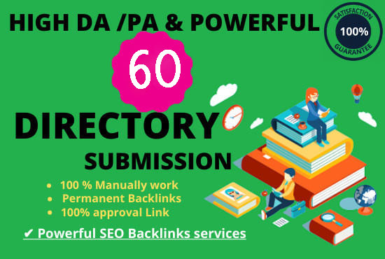 I will provide 60 High-quality directory submission