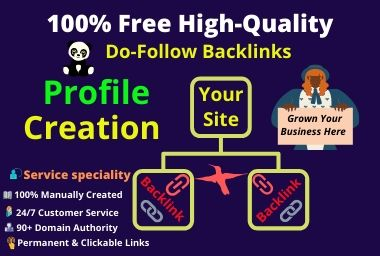 I will do & came to provide you 30 high authority Social profile creation Backlinks Building