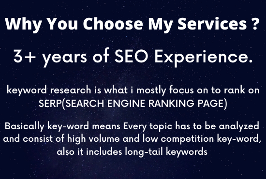 I will do indepth keyword research that will rank fast