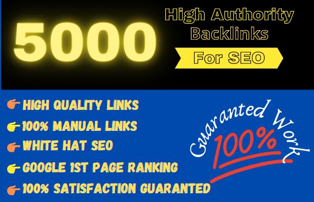 Get 5000 High Authority backlinks Rank Your Website Blast Your SEO Ranking