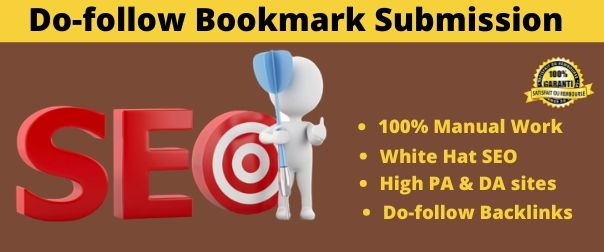 I will do 50 social bookmarking in high DA PA sites manually