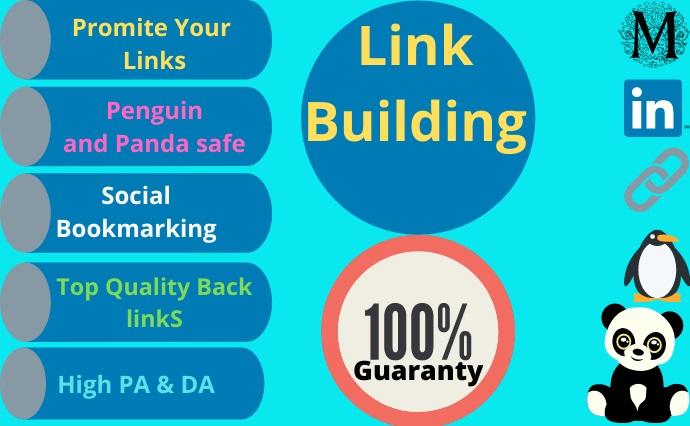 I will do 35+ High Authority Social profile creation backlinks building