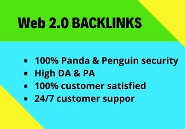 I will provide you manually 30 High Quality Web 2.0 backlinks
