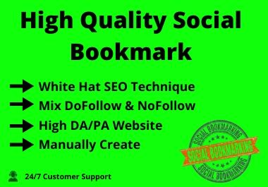 I will Provide you High Quality 50 Social Bookmarking