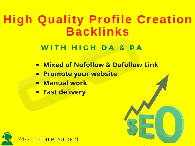 I Will Do 30 High Quality Do Follow Profile Creation Backlink.