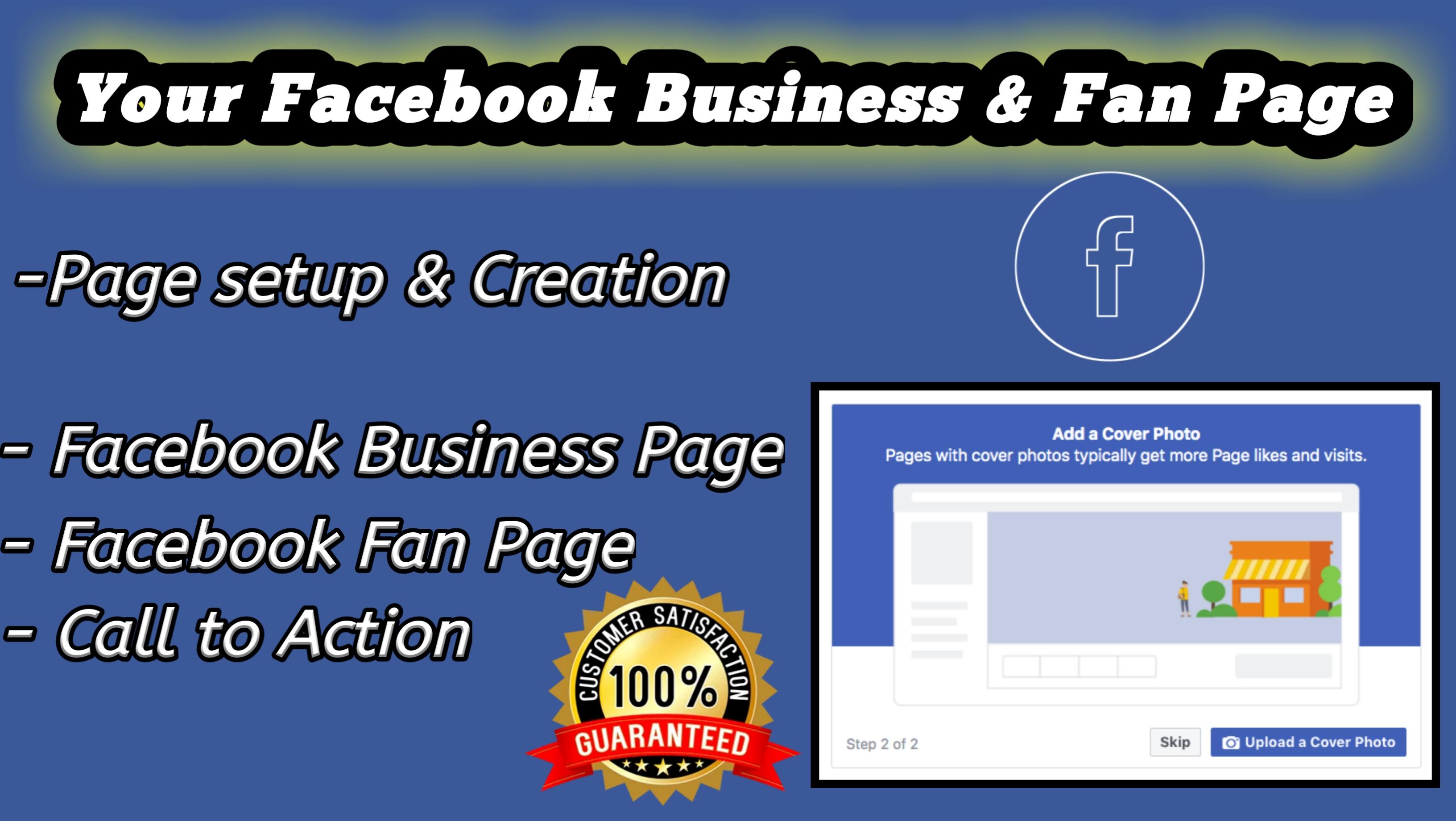 Create,  setup Fb business Page