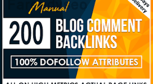 i will build 200 dofollow blog comments backlinks on 20 to 90 DA websites