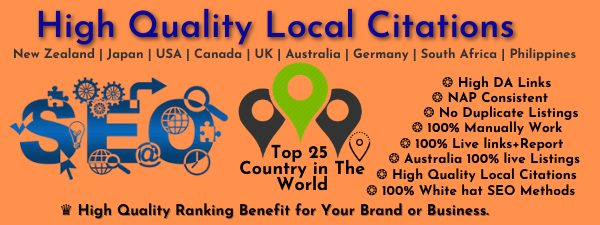 Manually Do 30 HQ local citations - local listing - business listing for all country