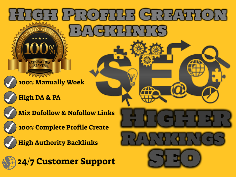 I will Provide 150 Dofollow High Authority Profile Creation Backlinks