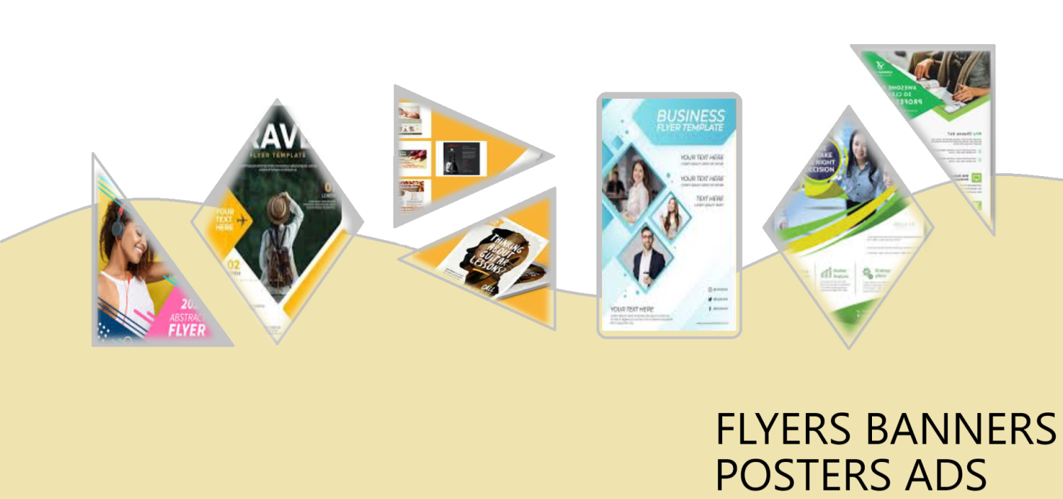 create banner ads posters flyers leaflets