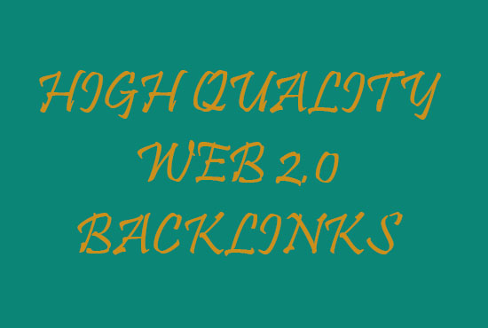 I will create 20 web 2 backlinks for your website