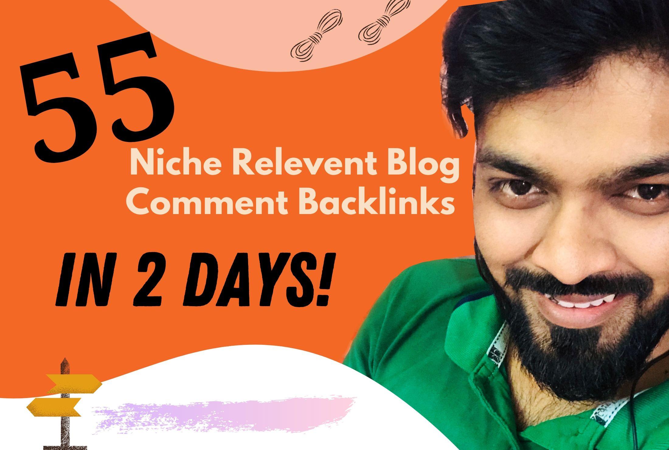 I Will Do 55+ Approved Blog Comment Backlinks. Niche Relevent Backlinks